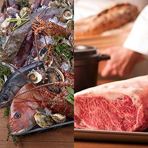 【1泊2食】五島の旬魚と五島牛で織りなす「島のイタリアンコース」プラン